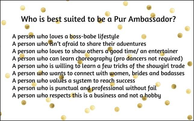 pur ambassador - who